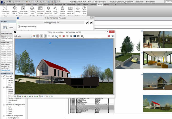 Chaos Group V-Ray 3 x for Revit Workstation License
